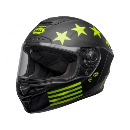 Capacete Bell Star DLX Mips Fasthouse Victory Preto Mate / Fluo